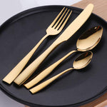 24Pcs Plated Cutlery Set Dinnerware