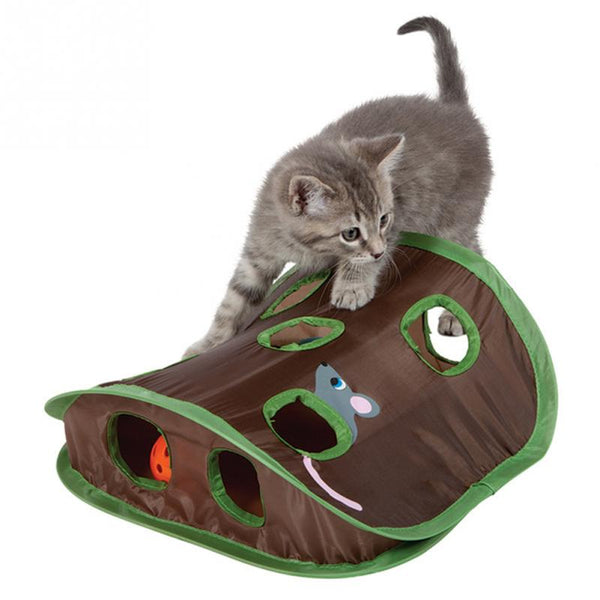 Cat Intelligence Toy Tent With 9 Holes