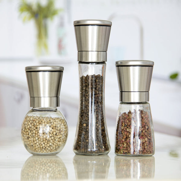 Adjustable Stainless Steel Glass Spice Shredder