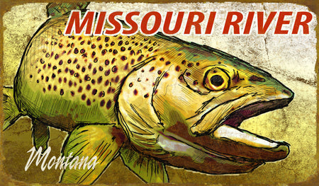 Brown Trout Metal Sign