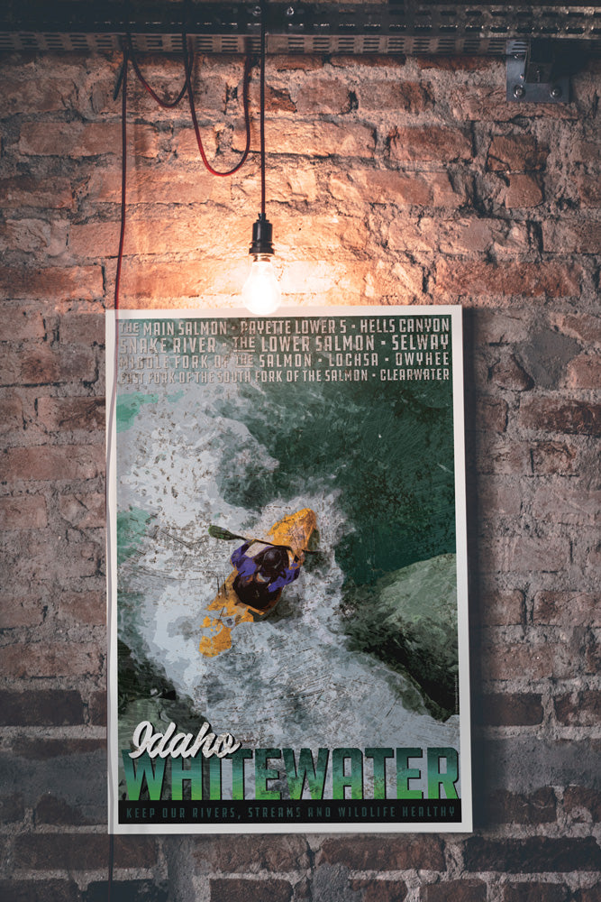 Idaho Whitewater Poster