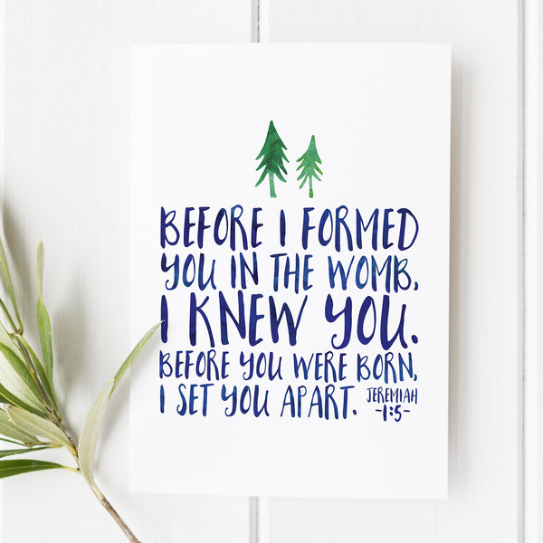 Jeremiah 1:5 - Before I Formed You - No. 2