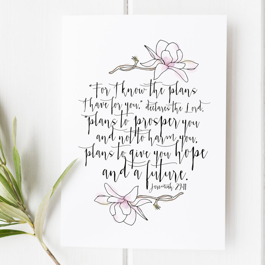 Jeremiah 2911 For I Know The Plans I Have For You Bible Verse