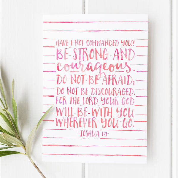 Joshua 1:9 - Have I Not Commanded You - No. 1