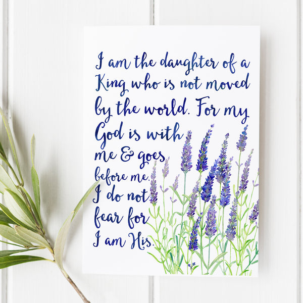 I am the Daughter of a King - Encouragement Bible Print