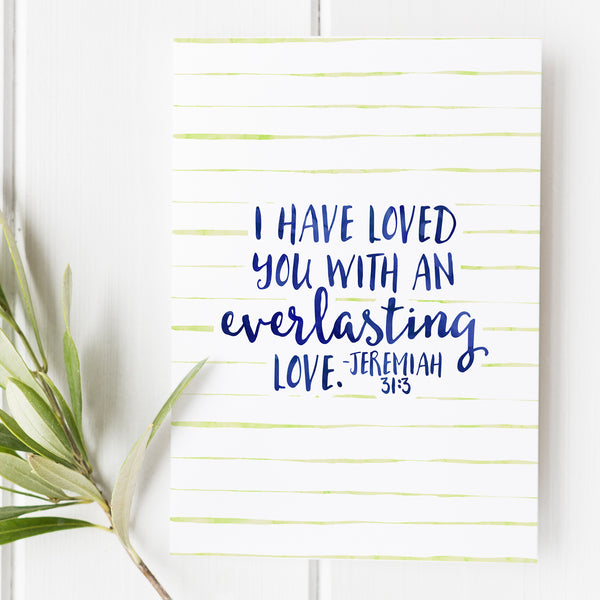 Jeremiah 31:3 - I have loved you with an everlasting love - No. 1