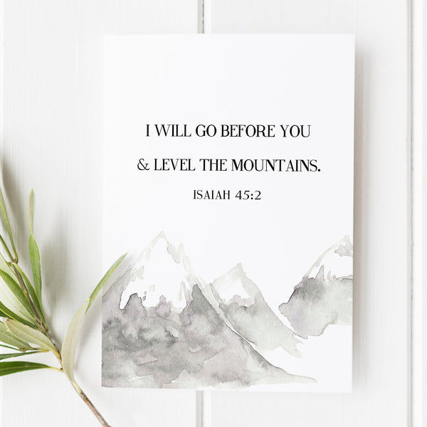 Isaiah 45:2 - I Will Go Before You