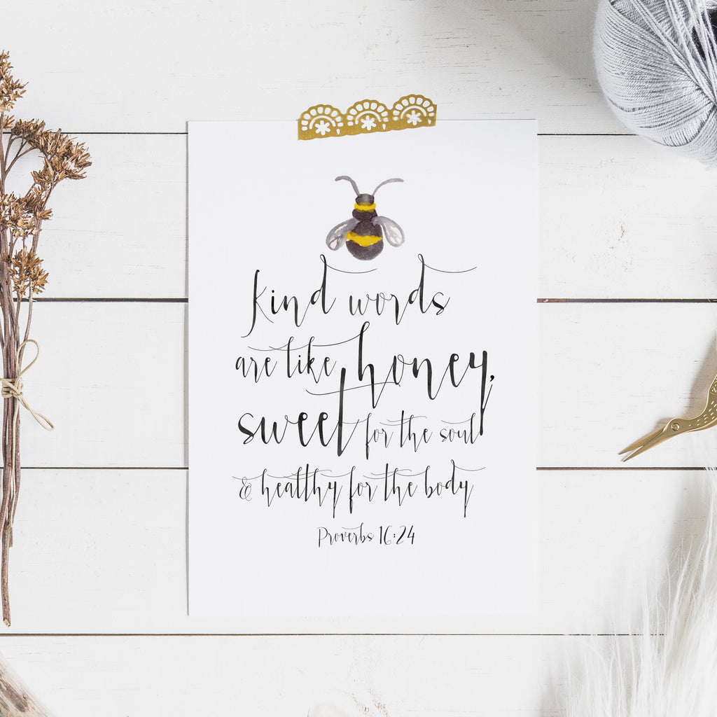 Proverbs 16:24 - Kind Words are Like Honey