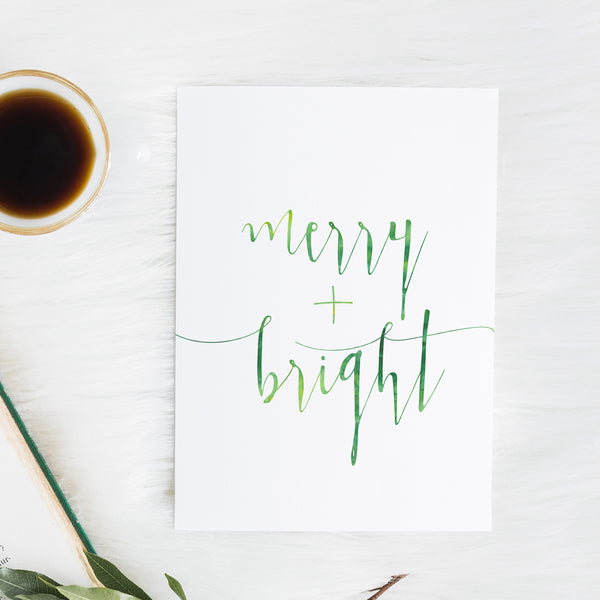 Merry and Bright - Christmas Print