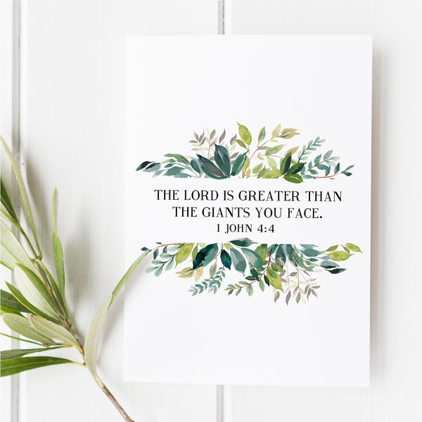 1 John 4:4 - The Lord is Greater