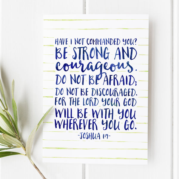 Joshua 1:9 - Have I Not Commanded You - No. 2