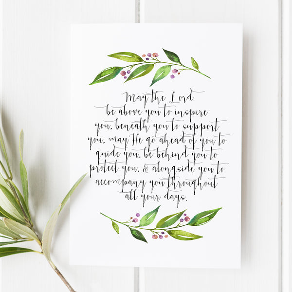 May the Lord Be Above You - Prayer print