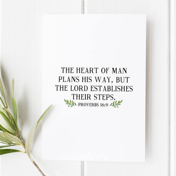 Proverbs 16:9 - The Heart of Man