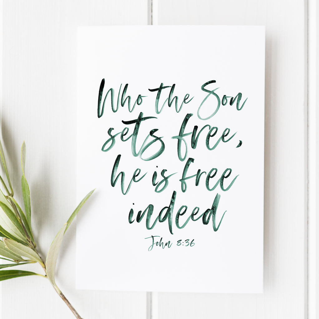 John 8:36 - Who the Son Sets Free