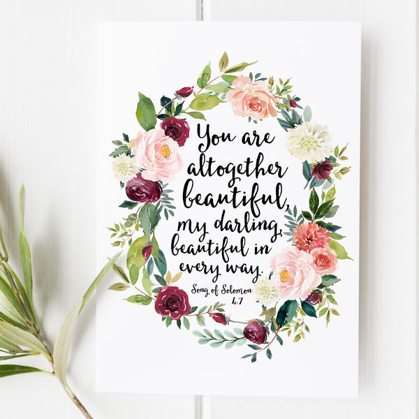 Song of Solomon 4:7 - You Are Altogether Beautiful