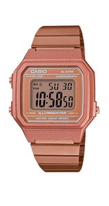 Reloj Casio Collection B650WC-5AEF, unisex, de acero inox cobrizo, crono, alarma, cuenta atrás y sumergible