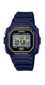 Reloj Casio Collection F-108WH-2A2ER unisex, con luz, crono y alarma