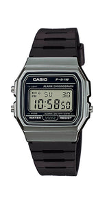 Reloj Casio Collection F-91WM-1BEF para todos los públicos, crono, alarma y calendario.