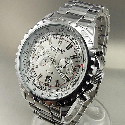 Silvery Impression Watch