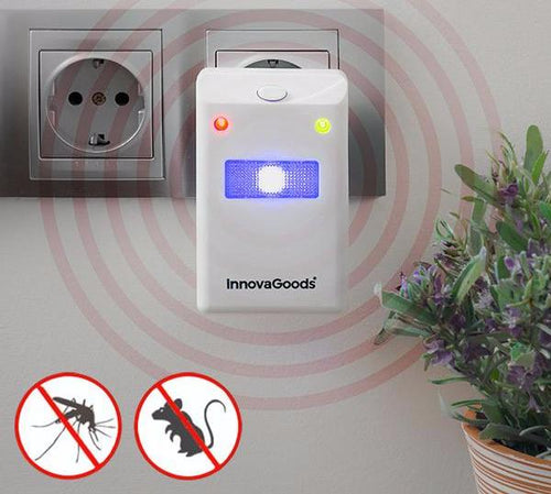 Insect and Rodent Repellent with LED Light
