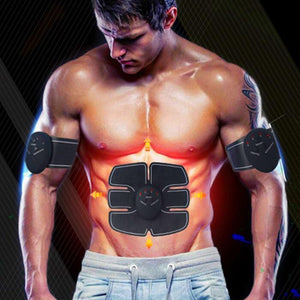 EMS Electric Pulse Treatment Abdominal Muscle Trainer Wireless - makepricedeals