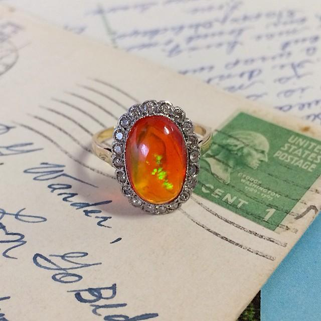 What a Vintage Opal Engagement Ring Reveals About Its Wearer