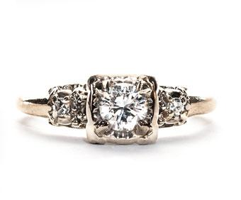 3 Stunning White Gold Vintage Engagement Rings