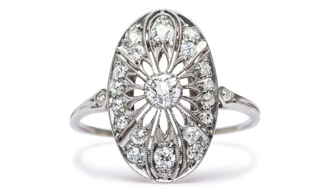 New Vintage Engagement Rings: Peachtree