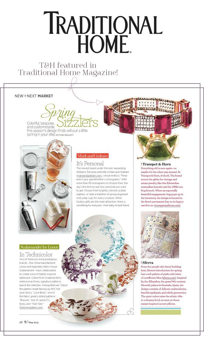 T&H Featured in Traditional Home Magazine!