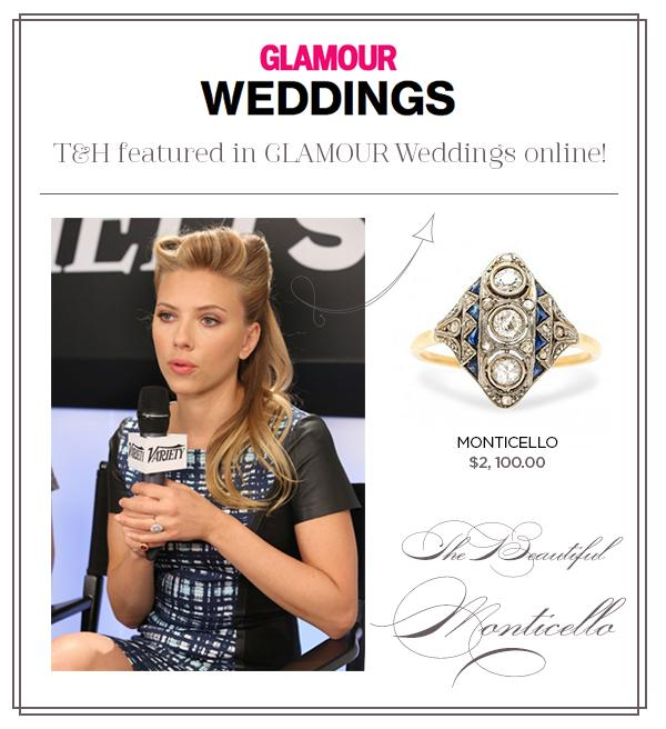 T&H Monticello Ring Featured on Glamour.com!