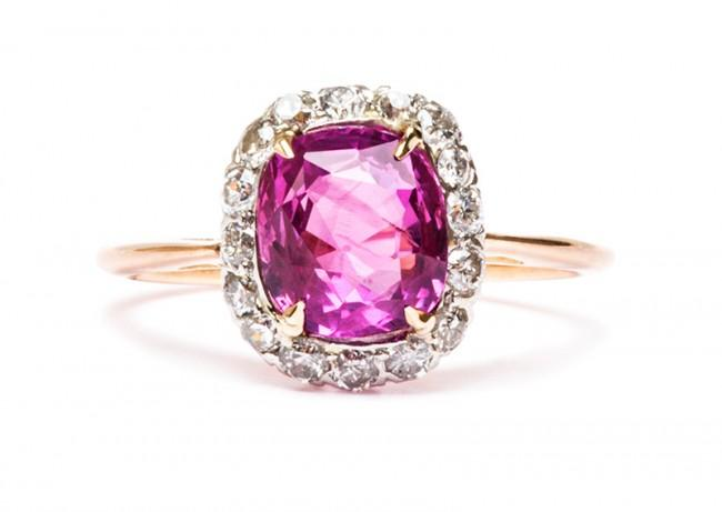 Friday Favorite:  Magnolia Pink Sapphire Engagement Ring
