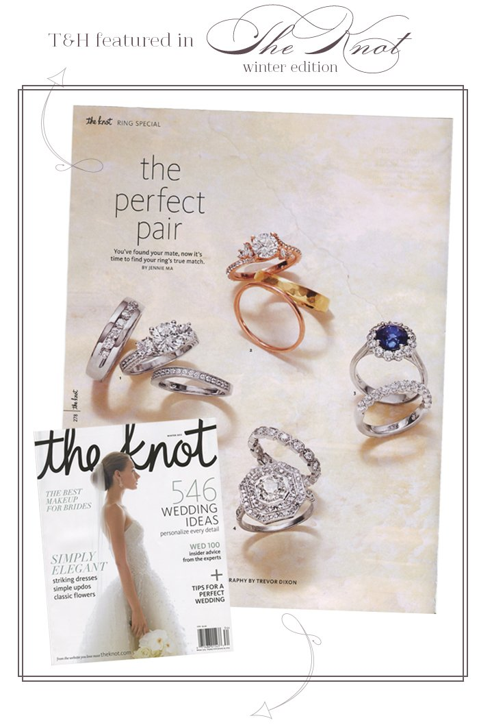 T&H Featured in The Knot Winter Edition!