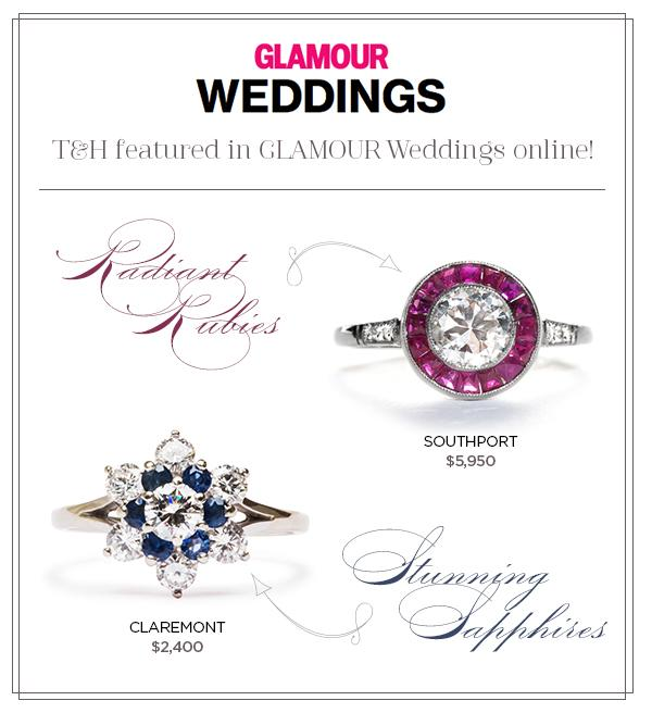 Southport & Claremont Vintage Engagement Rings Featured on Glamour.com!