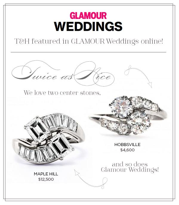 Hobbsville & Maple Hill Vintage Engagement Rings Featured on Glamour.com!