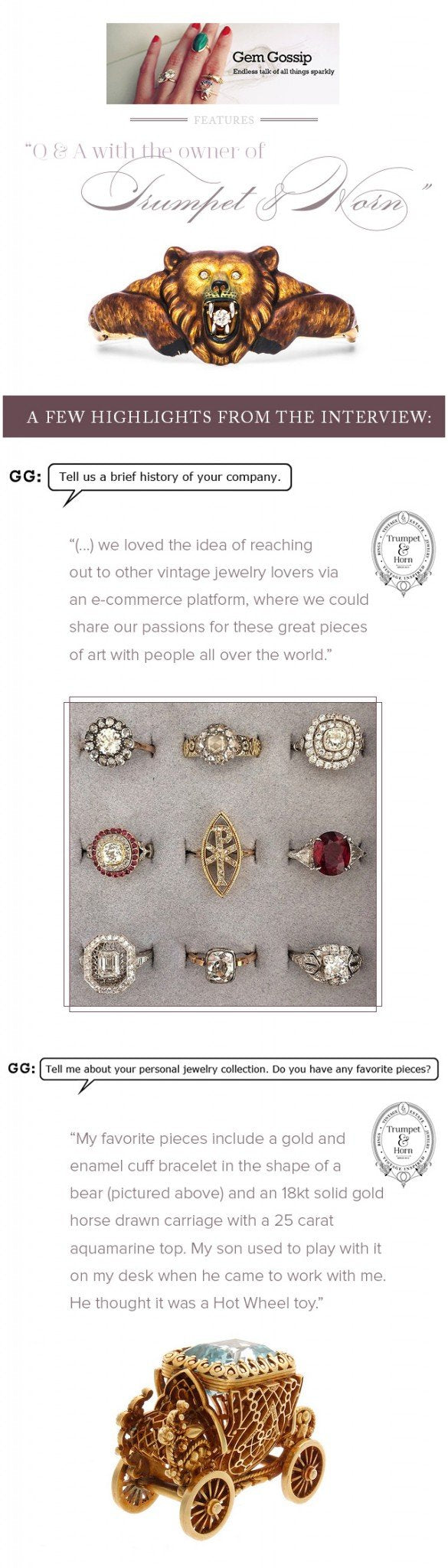 T&H Featured on Gem Gossip Jewelry Blog!