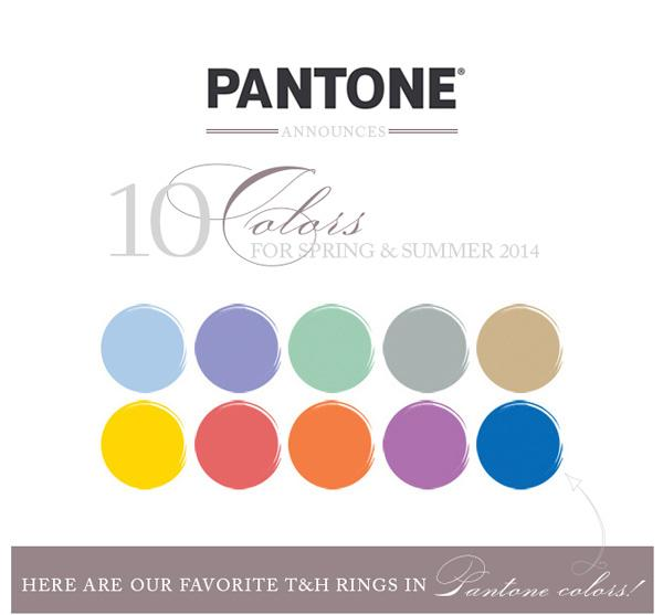 T&H Vintage Engagement Rings in Pantone Spring/Summer Colors!