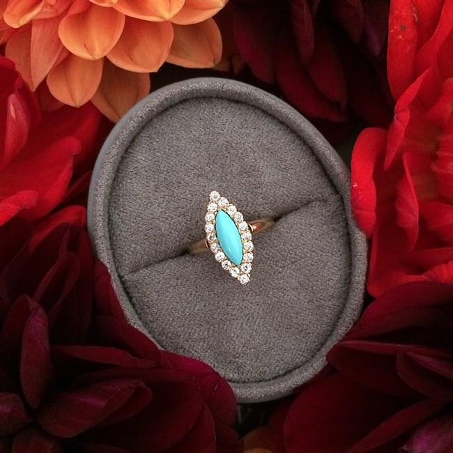 The Perfect Band and Cut to Suit your Turquoise Engagement Ring