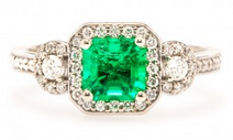 Vintage in Color: Radiant Engagement Rings with Colored Gemstones