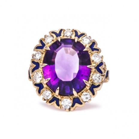 The Perfect Bands and Cuts for Vintage Amethyst Engagement Rings