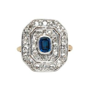 Add Some Color to Classic Vintage Engagement Rings