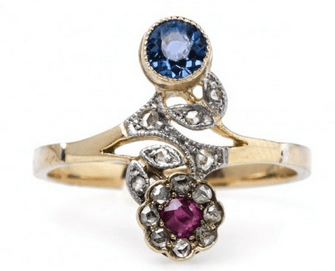 A Collection of Unique Designs: Vintage Flower Engagement Rings & More