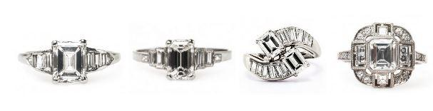 Choose a Classic: Emerald Cut Vintage Engagement Rings