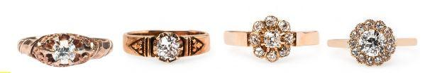 Spotlight on Sweet Rose Gold Vintage Engagement Rings