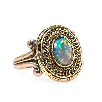 The Wonderful, Whimsical World of Antique Opal Rings