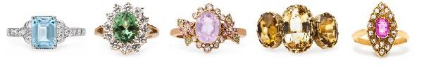 5 Springtime Ready Rings with Pastel Gemstones