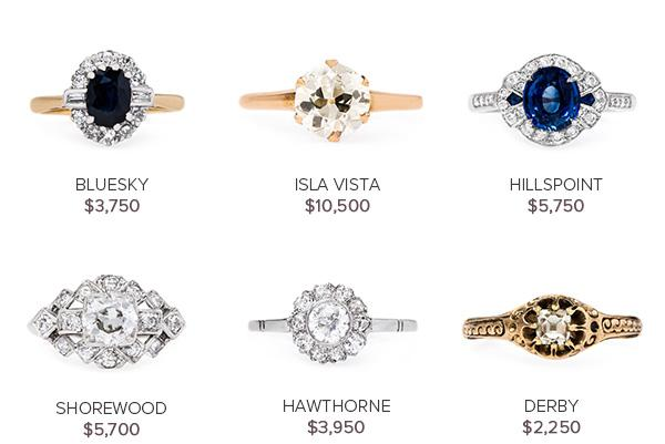Vintage Engagement Rings: June 14