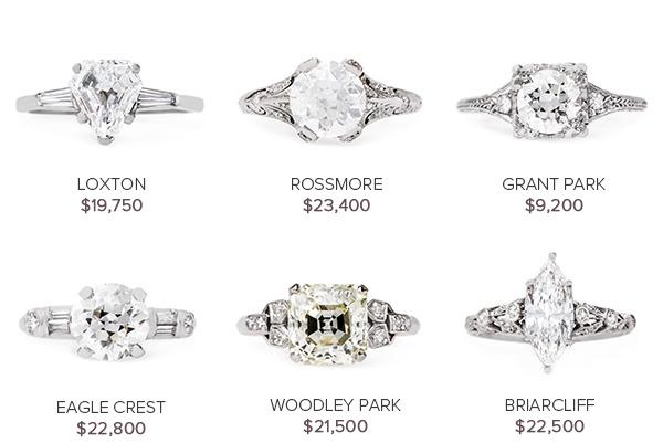 Vintage Engagement Rings July 26
