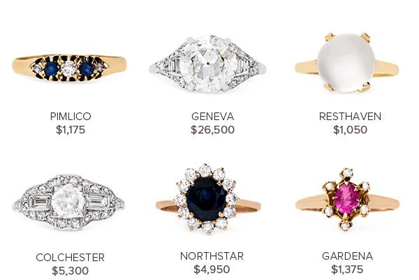 Vintage Engagement Rings July 19