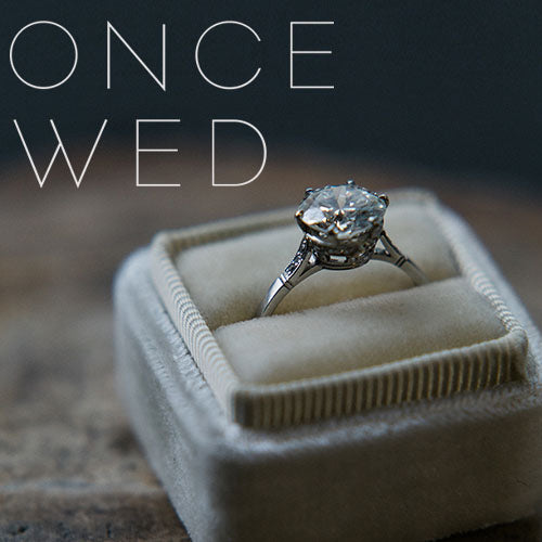 Once Wed: Shopping for a Vintage Engagement Ring