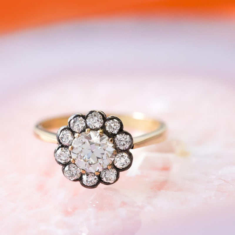 Vintage Oxidized Engagement Rings